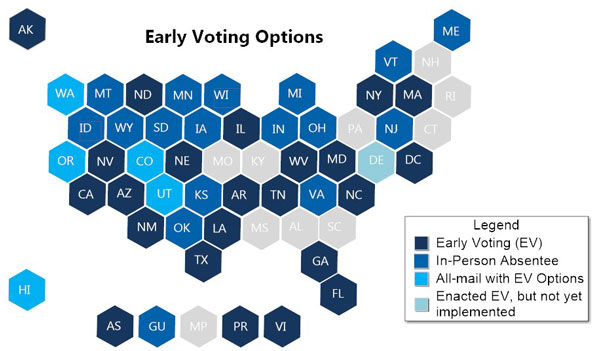early voting 50-state map