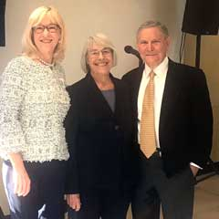 From left, Patricia Kuhl, co-director of the Institute for Learning & Brain Sciences; and former House member, and longtime early learning and child welfare champion Ruth Kagi and Robert Dugger, managing partner at Hanover Provident Capital.