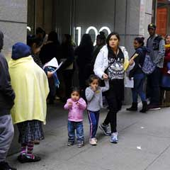 Hundreds of people stand in line outside an immigration office in San Francisco on Jan. 31, 2019.Eric Risberg / AP file