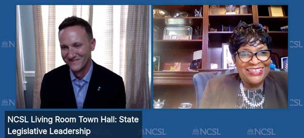 Maryland Speaker Adrienne Jones Town Hall Live interview with NCSL's Mick Bullock