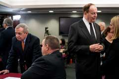 """I'll say 50-50 we get a deal,"" said Senator Richard C. Shelby of Alabama, right, a key figure in the border security negotiations.Credit: Erin Schaff for The New York Times"