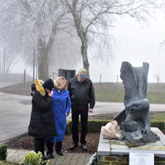 On the final day, the delegation visited the Battle of the Bulge war memorial, which was constructed to honor the 20,000 U.S. servicemembers who died there in 1944-45. The group paid its respects by laying a wreath at the war memorial. This year is the 75th anniversary of the battle.