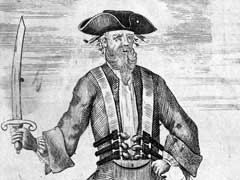 engraving of Edward Teach, aka Blackbeard
