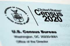 This March 19, 2020, file photo, shows a 2020 census letter mailed to a U.S. resident. Alabama on Wednesday became the second state to challenge the U.S. Census Bureau's decision to delay by six months the release of data used for redrawing congressional and legislative districts, as it took aim at the accuracy of a privacy protection system that it alleged is holding up the process.(AP Photo/Matt Rourke, File)