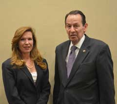 Marisa Randazzo, principal and co-founder of SIGMA Threat Management Associates, and and Mitchell Zais, deputy director of Education for the U.S. Department of Education