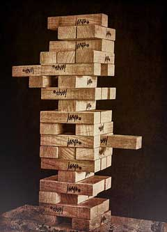 Jenga game. credit: https://creativecommons.org/licenses/by/2.0/deed.en