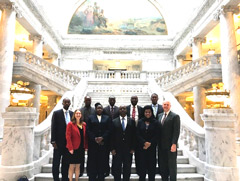 The Kenyan delegation vists the Utah State Capitol.