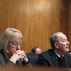 In this Jan. 31, 2017, file photo, Senate Health, Education, Labor and Pensions Chairman Lamar Alexander, R-Tenn., accompanied by ranking member Patty Murray, D-Wash., speaks during a hearing on Capitol Hill.(Photo: Alex Brandon, AP)