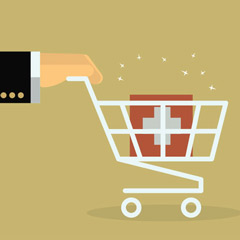 health insurance in shopping cart
