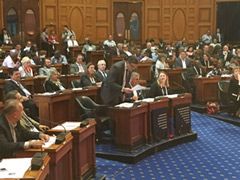 Mock session at Massachusetts State House