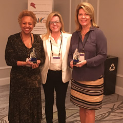 Louisiana Senator Yvonne Colomb, South Dakota Representative Kristin Conzet (Immediate Past President of NCSL's Women's Legislative Network) and Mississippi Senator Sally Doty at NCSL's Southeastern Women's Leadership Seminar