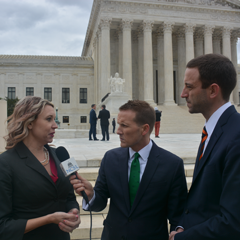 NCSL President Senator Deb Peters and NCSL's tax expert Max Behlke interviewed by NCSL Public Affairs Director Mick Bullock following the Supreme Court hearing.