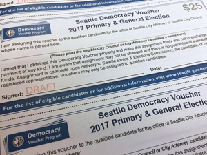 Seattle Voters to Get 'Democracy Vouchers'