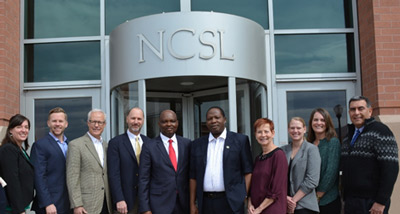 NCSL staff members meet with COSLON delegation.