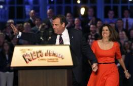 Re-elected New Jersey Gov. Chris Christie