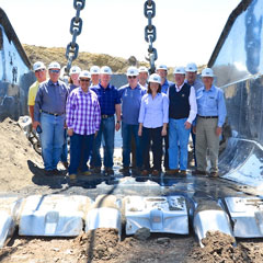 Members of NCSL's Task Force on Energy Supply, other legislative leaders and staff visit the Coteau Freedom Mine, the largest producing lignite coal mine in North America.