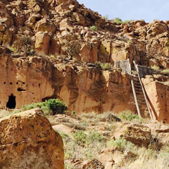 Attendees toured the Santa Clara Puye Cliff Dwellings and learned about the Pueblo's relationship with Los Alamos.