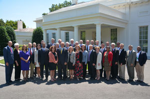 State legislative leaders met at the White House with cabinet secretaries to discuss state concerns.