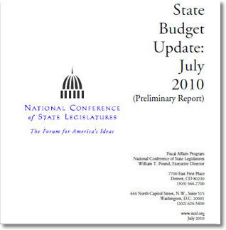 Cover:  State Budget Update:  July 2010