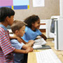Graphic: Kids at a computer