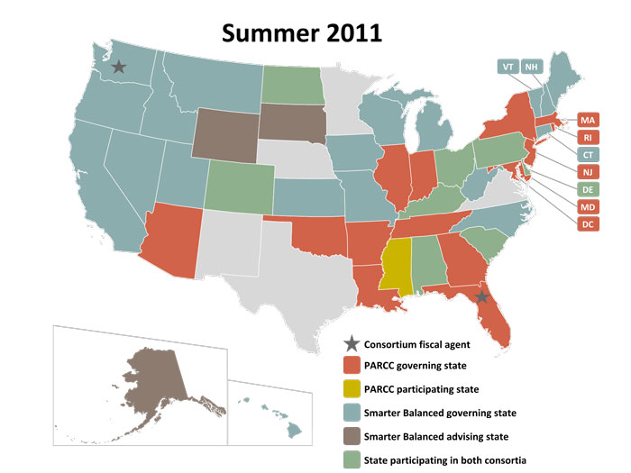 Textbook Adoption States Map.Common Core State Standards Faq