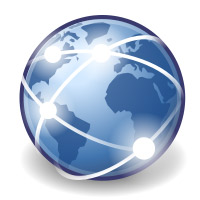 Picture of Globe with Internet Connections