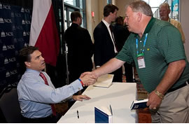 Rick Perry book signing