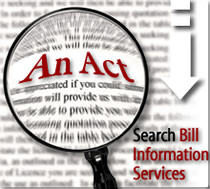 An Act:Search Bill Information Services