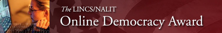 Online Democracy Award banner