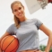 woman with basketball