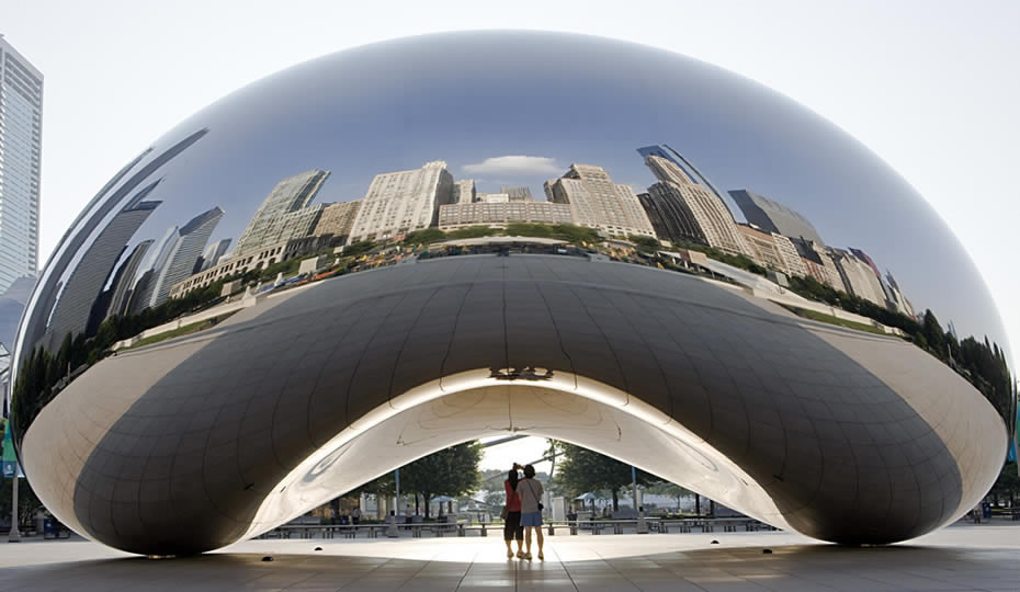 Chicago's Bean sculpture