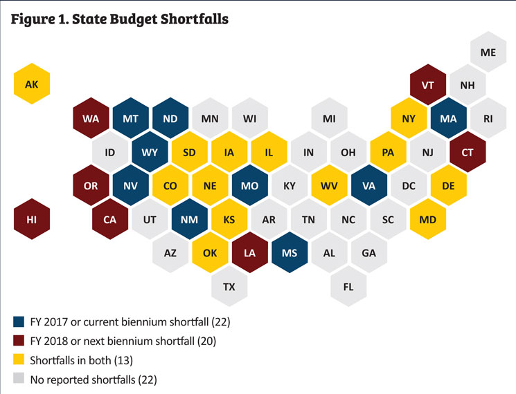 a majority of states 33 expect to meet their latest revenue forecast with the fiscal year ending june 30 most states had adjusted revenue projections by