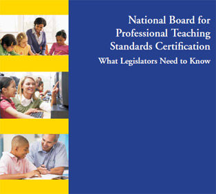 Cover of education publication: National Board for Professional Teaching Standards Certification