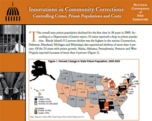 Front Page of report on Innovations in Community Corrections