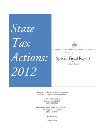 State Tax Actions 2012