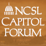 Logo with the words NCSL Capitol Forum  with a capitol dome