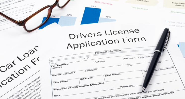 applying for drivers license