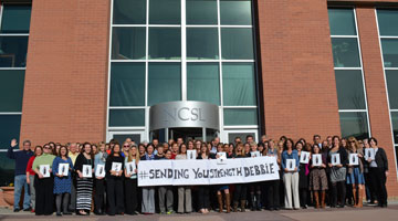 NCSL staff in front of the Denver headquarters.