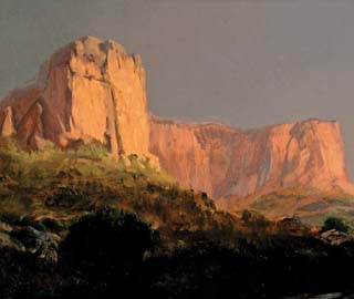 Painting of a butte