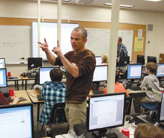 Teacher in an Idaho classroom