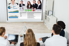 People holding a virtual meeting