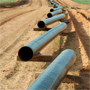 Photo showing pipeline being laid.