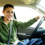 Photo showing a teen driver.