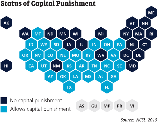 status of capital punishment map