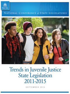 Cover of Trends in Juvenile Justice report