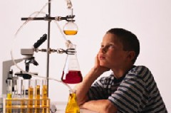 Boy with Science Project