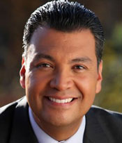 A photograph of California Senator Alex Padilla (D)