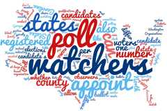 "a graphic image to illustrate ""poll watchers"""
