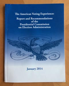 Cover of the Presidential Commission on Election Administration's report.