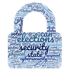 Word cloud image of elections security.